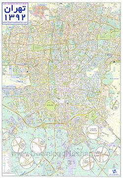 نقشه تهران با کیفیت بالا