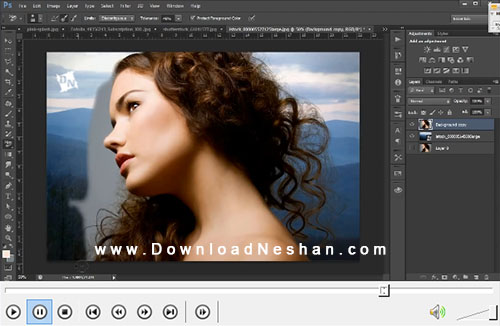 آموزش جدا کردن چهره و مو از پس زمینه عکس توسط فتوشاپ + فیلم