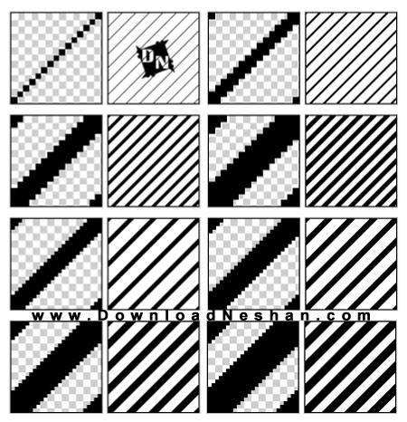 خطوط ضخیم مورب و الگوی راه راه برای فتوشاپ
