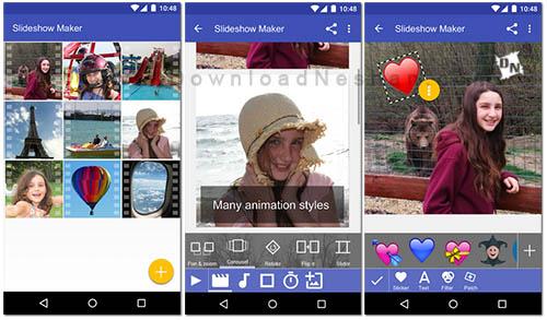 ساخت اسلایدشو از تصاویر در موبایل اندروید