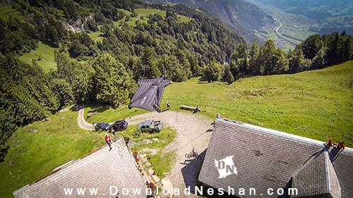 پرواز با لباس بالدار در سوئیس توسط Jeb Corliss